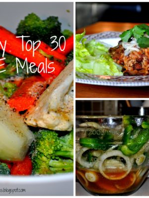 My Top 30 Energizing (E) Meals