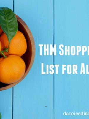 Trim Healthy Mama Aldi Shopping List