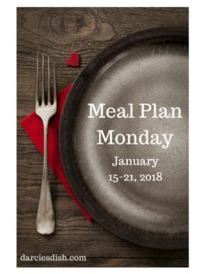 Meal Plan: 1/15-1/21/18