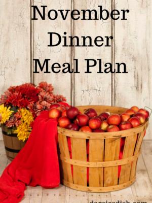 November Dinner Meal Plan