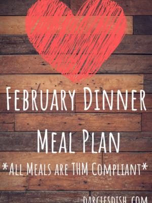February Dinner Meal Plan