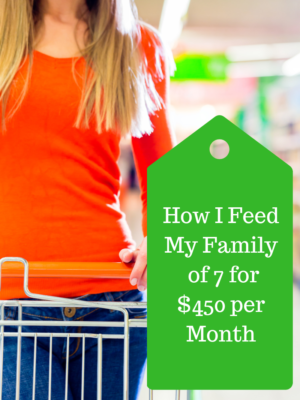 How I Feed My Family of 7 for $450 Per Month