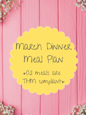 March Dinner Meal Plan