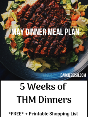 May Dinner THM Meal Plan