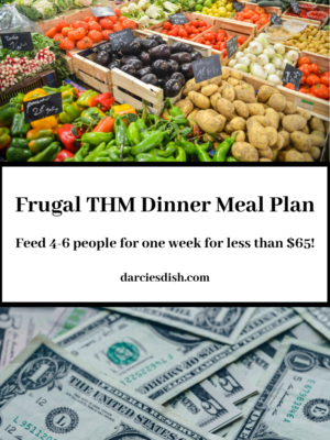 Frugal Trim Healthy Mama Meal Plan ($65 for 4-6 People)