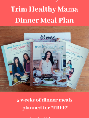 Trim Healthy Mama Dinner Meal Plan – February 2021