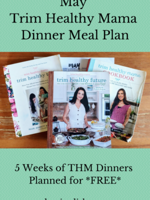 Trim Healthy Mama Dinner Meal Plan – May 2021